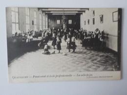 1908 CP Animée Quatrecht Pensionnat Et Ecole Professionnelle Salle De Jeu écolieres Wetteren - Wetteren