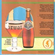 Abbaye D'Orval-Brasserie- Bière Trappiste- Publicité De Table- Triptyque -Recto-Verso- 14,5x15 Cm - Otras Colecciones