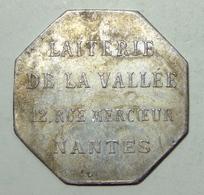 44 - Nantes - La Goutte De Lait - Laiterie De La Vallée 12 Rue Mercoeur - Monétaires / De Nécessité