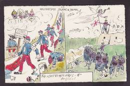 CPA La Flèche Satirique Caricature Non Circulé Marche De L'armée Japon Guerre War Original RARE - Satiriques