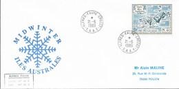 Bo1 - TAAF - PA 103 -Midwinter 21.6.1989 CROZET - - Cartas