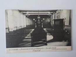 1908 CP Animée Quatrecht Pensionnat Et Ecole Professionnelle Salle D' Etude Wetteren J. Jacobs - Wetteren
