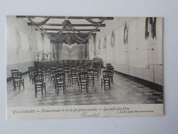 1907 CP Quatrecht Pensionnat Et Ecole Professionnelle Salle Des Fêtes Wetteren J. Jacobs - Wetteren