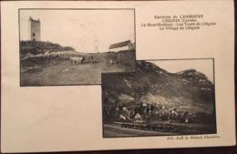 Cpa, Environs De Chambéry, Multivues CHIGNIN (Savoie) Le Mont - Ronjoux, Les Tours, Le Village,éd Grimal, écrite 1910 - France