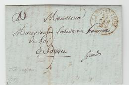 GARD :  SAINT AMBROIX CàD Type 13 + TM 3 / LAC De 1831 Pour Sauves TB - Marcophilie (Lettres)
