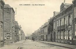 - Somme -ref-C197- Amiens - La Rue Delpech - Carte Bon Etat - - Amiens