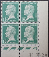 PP2990/21 - 1924 - TYPE PASTEUR - N°171 BLOC NEUF** CdF Daté - Coins Datés