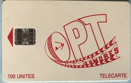 COMORES  -  Chip Card  -  OPT Des Comores  -  SC7  - 100 Unités - Comore