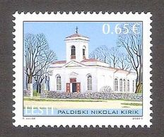St.Nicholas Church In Paldiski Estonia 2020  MNH Stamp Mi 979 - Estonia