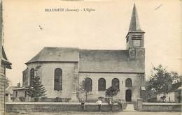 - Somme -ref-C196- Beaumetz - L Eglise - Monument Aux Morts - Monuments Aux Morts - Voir Description - - Other Municipalities