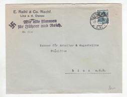 """III. Reich, Ostmark, Brief  """" Wir Alle Stimmen Für Führer Und Reich """" - Allemagne"""