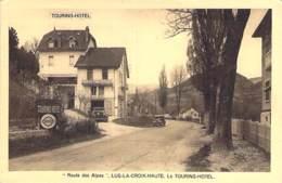 26 - LUS LA CROIX HAUTE : TOURING HOTEL ( Prop. Felix GARZON ) - CPSM Village ( 550 H) Sépia Format CPA - Drôme - France