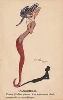 L'anguille. (signature Que Je N'ai Pu Répertoriée !) - Autres Illustrateurs