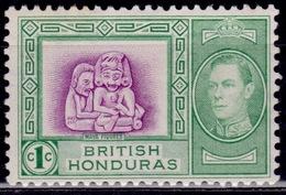 British Honduras 1938, Maya Figures, 1c, MH - British Honduras (...-1970)