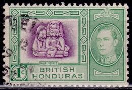 British Honduras 1938, Mayan Figures, 1c, Sc#115, Used - British Honduras (...-1970)