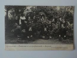 1907 CP Quatrecht Pensionnat Et Ecole Professionnelle La Grotte écolières Wetteren J. Jacobs - Wetteren