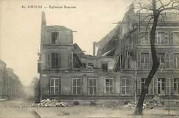 - Somme -ref-C189- Amiens - Esplanade Beauvais - Maison Bombardée - Guerre 1914-18  - Carte Bon Etat - - Amiens