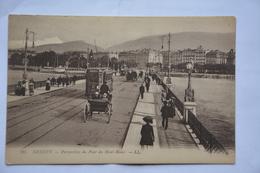 GENEVE-perspective Du Pont Du Mont-blanc - GE Genève
