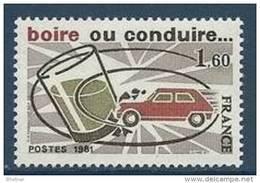 """FR YT 2159 """" Sécurité Routière """" 1981 Neuf** - Unused Stamps"""