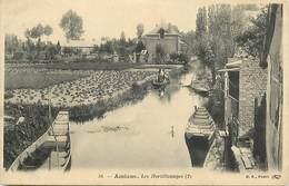 - Somme -ref-C187- Amiens - Les Hortillonages ( 2 ) - Marché - Marchés - Carte Bon Etat - - Amiens