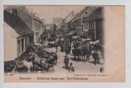 CBPN104/ Thourout(Torhout)  Zuidstraat Daags Voor Sint-Pietersfeeste Animée-Chevaux - Torhout