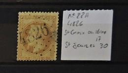 02 - 20 // France N° 28A Oblitéré GC 4826 - St Croix Aux Mines - Haut Rhin - Indice 17 - 1863-1870 Napoleone III Con Gli Allori