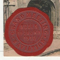 76 SEINE MARITIME  CP ANIMEE COLORISEE ROUEN - LA FONTAINE SAINTE .. - GRAND MEETING D'AVIATION ROUEN 19-26 JUIN 1910 - Rouen