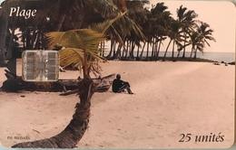 COMORES  -  Chip Card  -  SNPT Des Comores  - Plage Adorée -  SC7  - 25 Unités - Comore