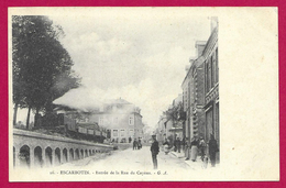 CPA Escarbotin - Entrée De La Rue De Cayeux - Friville Escarbotin