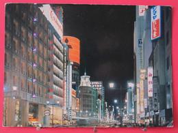 Visuel Très Peu Courant - Japon - Tokyo - Night View Of Ginza Street - Recto Verso - Tokyo