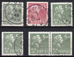 S121 – SUEDE – SWEDEN – 1940 – CARL MICHAEL BELLMANN – Y&T 279/80 USED 10 € - Suède