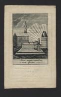 DOODSPRENTJE * COSMAS VAN WASSENHOVE * PRIESTER ONDERPASTOOR MOERBEKE WAAS * + HARELBEKE 1833 * LITHO - Images Religieuses
