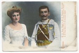 MONTENEGRO - CETINJE, KNJAZ MIRKO & KNEGINJA NATALIJA, LITHO, OLD PC - Montenegro