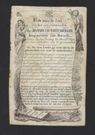 DOODSPRENTJE * JOHANNES VAN WAEYENBERGHE * BURGEMEESTER HERZELE * + 1852 * LITHO * A VOUX MULKERS NINOVE - Imágenes Religiosas