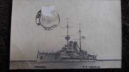CPA  BATEAUX DE GUERRE  ZRENYE E A GOUDER  1915  LA VALETTE  TIMBRE ENLEVE    MALTA - Warships