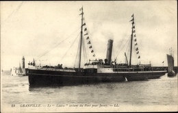 Cp Granville Manche, Le Laura Sortant Du Port Pour Jersey, Leuchtturm - Other Municipalities