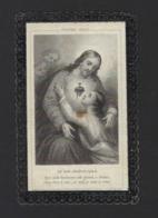 DOODSPRENTJE * JEANNE VAN WAEYENBERGHE * VEUVE CHARLES DE SADELEER * HERZELE 1813 + LEDE 1886 * DRUK AALST E. VERNIMMEN - Imágenes Religiosas