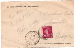 Busserolles 1935 Dordogne - Cachet Tireté Agence Rurale Sur Semeuse - 1921-1960: Modern Period