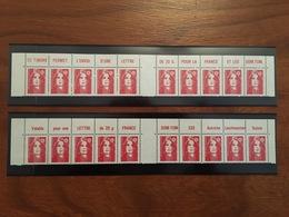 2 Bandes Horizontales Différentes Bord Supérieur De Feuille Marianne De Gandon TVP - Y&T 2806 - 1993 Et 1994 - Neuf - 1989-96 Marianne Du Bicentenaire