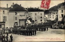 Cp Bruyères Vosges, Revue Du 14 Juillet, Defile De L'Infanterie - Autres Communes
