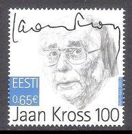 Writer Jaan Kross 100 Estonia 2020 MNH Stamp Mi 978 - Estonia