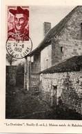 Rabelais 24.06.1950 - Chinon Sur Carte Maison Natale à Seuilly - Carte Maximum - Maximum Cards