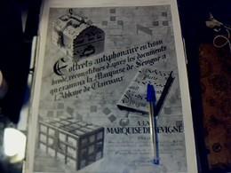 Publicité De Presse 30 X 40 Cm Année 1928  Coffrets à La Marquise De Sévigné - Publicités