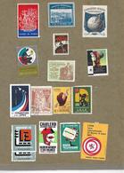 France Et Divers Un Lot De 250 Vignettes + Un Document Salon Inter. De L'aviation. - Erinnophilie