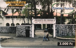 COMORES  -  Chip Card  - COMORES TELECOM - Université Des Comores - 3.000 Fc - Comore