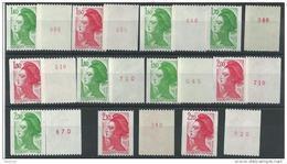 """FR YT  2191 ...2487 """" Liberté De Gandon Roulette N° Rouge """" 1981-90 Neuf** - 1982-90 Liberté De Gandon"""