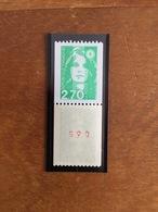 ROULETTE MARIANNE DE BRIAT -  Vert 2.70F - Y&T 3008/3008a Et 2823/2823a - 1996 - Neuf ** - Coil Stamps