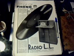 Publicité De Presse 30 X 40 Cm Année 1928 Phono _radio LL Vs Différentes Pubs Voir Photos - Publicités