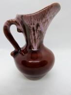 571 - Vase/pichet - Décor Flammé Marron/rose - Gout De Vallauris - Vintage - Vallauris (FRA)