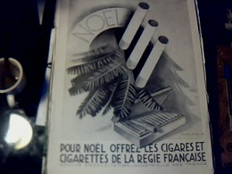 Publicité De Presse 30 X 40 Cm Année 1928 Cigarette & Cigares Noël Vs Parfum WURTH - Publicités